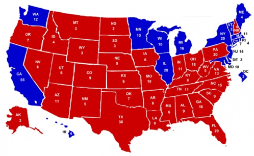 Red States Vs Blue States From Wikipedia Pictures To Pin