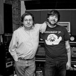 Jeff Dean & Jake Burns (Stiff Little Fingers) at Million Yen Studio (photo by Katie Hovland)