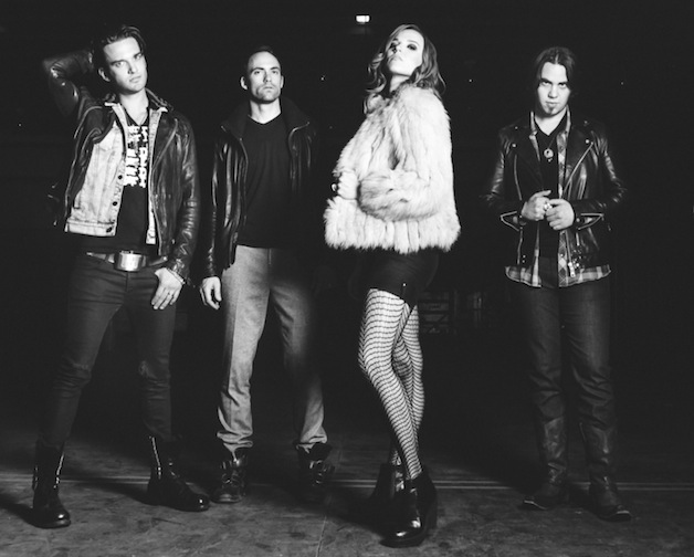 Halestorm - Press Photo 1 - Credit Jake Giles Netter - B&W